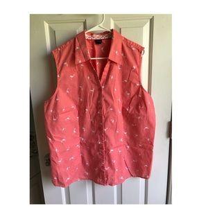 Sleeveless Flamingo Shirt